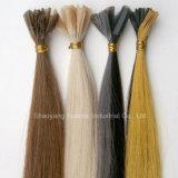Stick/Iの先端の中国かブラジルのケラチン100%の人間の毛髪の拡張