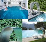 Cortina d'acqua dell'acciaio inossidabile della STAZIONE TERMALE LED della piscina di Fenlin