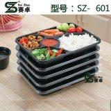 6 Compartmetn Nahrungsmittelbehälter mit Leck-Beweis-Kappe 1000ml