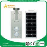 le prix usine 25W IP65 a intégré tous dans un réverbère solaire de DEL