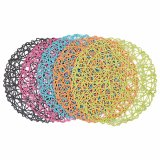Colorful Paper Strings Tablemat para casa e decorações