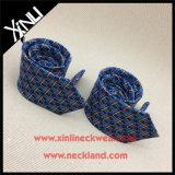 Lazo delgado impreso seda de la manera de los hombres