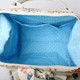 Backpack картины синей холстины PVC флористический (99239-3)