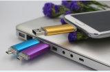 L'entraînement de crayon lecteur de flash USB en métal 64GB d'OTG branchent au mobile