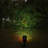레이저 광 옥외 별 영사기 빨강과 녹색 깜박거리기 크리스마스 불빛 훈장