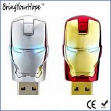 USB de la máscara del hombre del hierro del héroe estupendo (XH-USB-137)