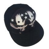 3D personalizadas bordado de algodón negro Deportes Pac Man Snapback Hats