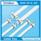 Abwerfbarer Kabelbinder des Edelstahl-Circinate 304 in der Elektrizität