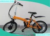Mxusのハブモーターを搭載する250W小さい力のFoldigの電気バイク