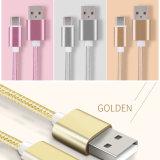 5V 2um cabo USB de Nylon 3.1 USB tipo USB padrão C independentemente dos aspectos positivos e negativos