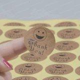 Impresión de etiquetas de papel Kraft Impresión Impresión Paquete Empaque adhesivo Pegatina