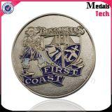 Проштемпелеванные Antique легирующего металла цинка спорта размера монетки идущего латунные с эмалью