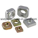 Plaqué zinc écrou carré en acier au carbone