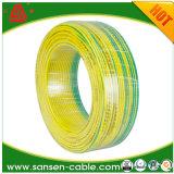 Fabriqué en Chine seul conducteur en cuivre nu massif, H05V2-U, ce certificat, seul le fil de base, câble d'alimentation de 6 mm2