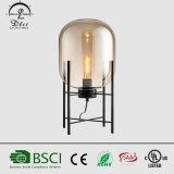 Luz ahumada ambarina moderna de cristal simple del escritorio de la lámpara de vector