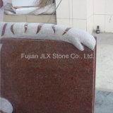 Tigre rossa vermiglia della pietra del granito che intaglia la pietra tombale dei bambini