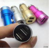 Carregador colorido durável do carro do USB do metal do preço razoável