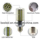 A luz E26 25W do milho do diodo emissor de luz refrigera a lâmpada de prata branca do bulbo do diodo emissor de luz do corpo da cor