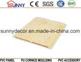 Потолок PVC панели пластичного слоения строительных материалов деревянный, декоративная панель стены