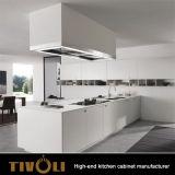 Gabinetes de cozinha brancos pequenos para os apartamentos Tivo-K0005h