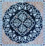 طبيعيّ رخاميّة فنّ فسيفساء مع زهرة صورة لأنّ أرضية زخرفة