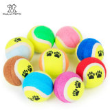 Juguete multi del perro de juguete de la pelota de tenis del animal doméstico del color