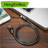 iPhone 인조 인간을%s USB 케이블 충전기 금속 호스 대 홀더 강철 케이블