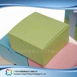 Rectángulo de empaquetado plegable del papel para la torta del caramelo de chocolate del alimento (xc-fbk-006)