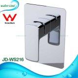 Acessórios do banheiro quentes e misturador do chuveiro do preto da água fria