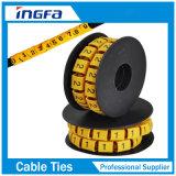 Tira de etiqueta de plástico del cable Ms-100 para la etiqueta de plástico del cable del PVC