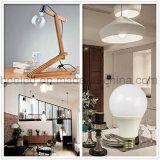 La luz E27 9W del maíz del LED calienta la lámpara de plata blanca del bulbo de la carrocería LED del color
