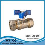 Латунный шариковый клапан с концами обжатия подходящий (V18-213)