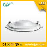 Lampe approuvée du plastique DEL de la CE TUV 0.5PF 6000k 12W vers le bas