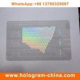 Holograma de sobreposição de cartão de identificação PVC transparente personalizado
