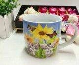 磁器のコーヒー・マグまたは平野の白い骨灰磁器の安い円形の陶磁器の白いマグ