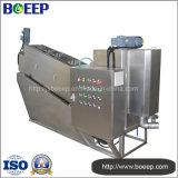 Presse auto-nettoyante à vis dans l'usine de traitement des eaux usées