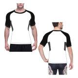 Spandex Lycra Rash Guard White Compression Top Chemises ajustées