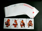Paper Playing Cards com Custom Design (4 curtis)
