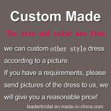 Платье вечера A139 Bridesmaid серебряного платья шнурка Bridal реальное