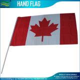 Indicateur estampé respectueux de l'environnement de main de polyester avec Pôle de plastique (NF01F03013)
