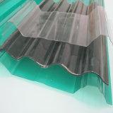 波形のプラスチックポリカーボネートの屋根ふきは家のためのシートの建築材料にパネルをはめる