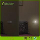 lumière de nuit de la fiche DEL de 0.3W 110V 120V 220-240V avec le crépuscule automatique à naître capteur de lumière