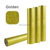 Buen vinilo Cuttable lavable y de la alta calidad del oro brillante de la PU de la flexión