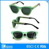 óculos de sol polarizados da forma dos produtos da margem o bambu elevado o mais atrasado com caso