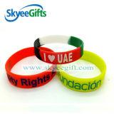 Braccialetto del silicone messo abitudine promozionale del materiale di riempimento di colore del regalo