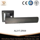 Salle de bains moderne carré de la poignée de verrouillage du levier de porte en aluminium (AL217-ZR09)
