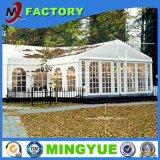 Pared de vidrio de alta calidad Precioso nuevo diseño exterior de aluminio blanco gran fiesta de boda tienda