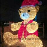 [4م] طويلة [لد] لعبة دبّ كبيرة خارجيّ عيد ميلاد المسيح زخرفة أضواء