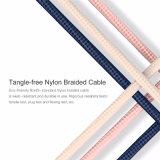 ナイロン編みこみの充満同期信号データUSBの充電器USBケーブル