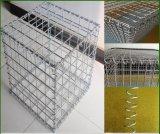 Anpingは溶接されたGabionの壁のGabionボックス石のバスケットGabionに電流を通した